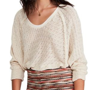 FREE PEOPLE HACCI LIGHT WEIGHT SWEATER